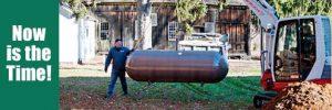 Propane tank installation