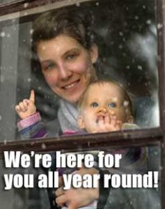 We're here for youall year round!