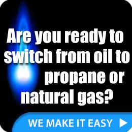 Convert from oil to gas or propane